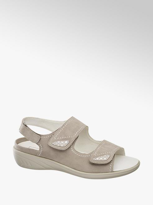 Medicus Lichtgrijze suède sandaal