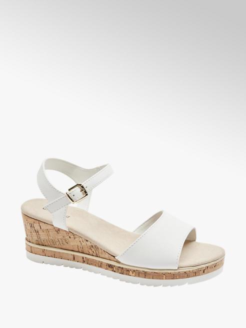 Graceland Witte sandalette sleehak