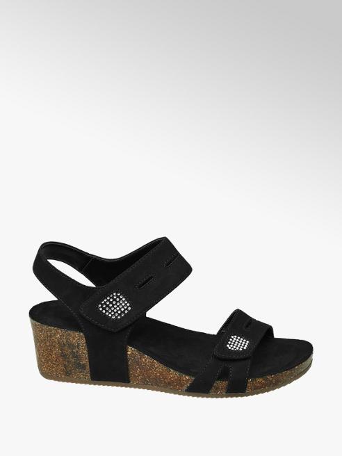 Graceland Zwarte sandalette kurk