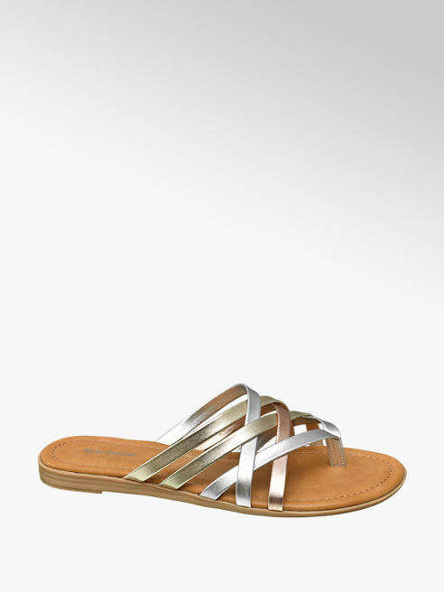 Graceland Metallic slipper bandjes