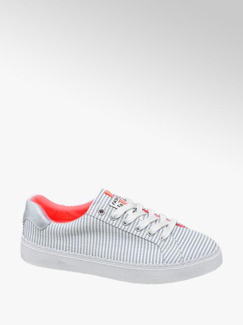Graceland Blauw/witte sneaker veter