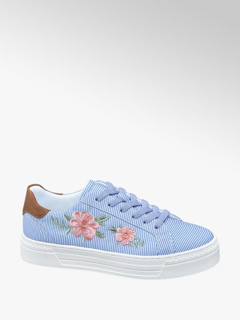 Graceland Blauwe sneaker embroidery