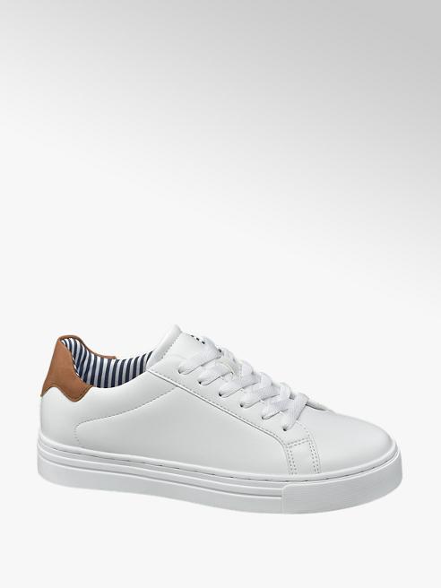 Graceland Witte sneaker plateauzool