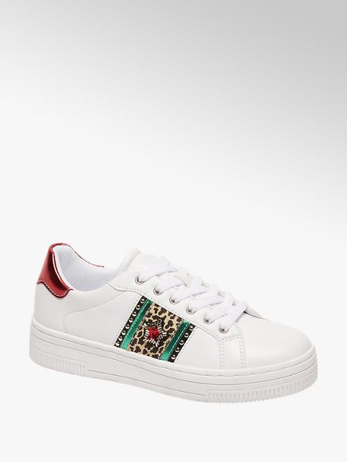 Graceland Witte sneaker leopard