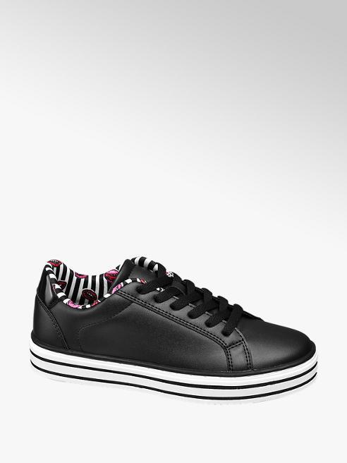 Graceland Zwarte sneaker plateauzool
