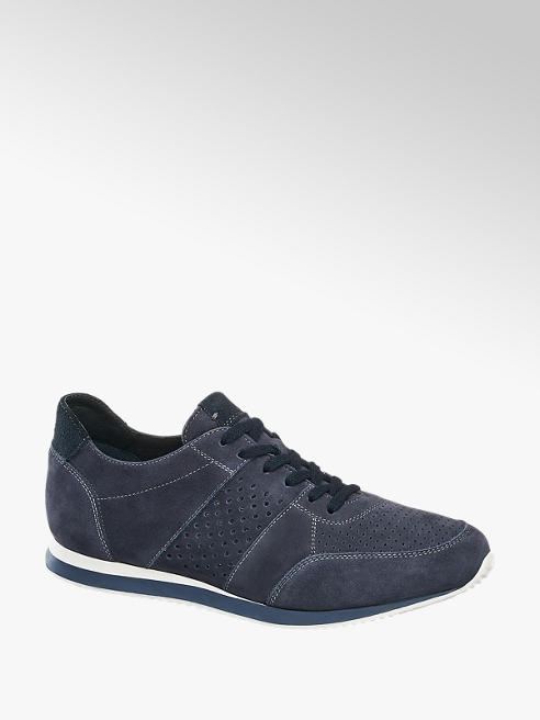 5th Avenue Blauwe sneaker suede