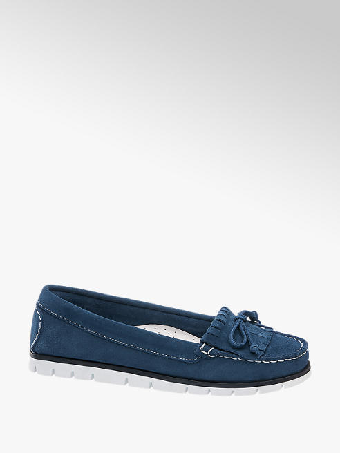 5th Avenue Blauwe moccassin suede