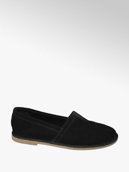 5th Avenue Zwarte suède loafer