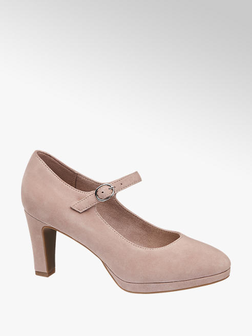 5th Avenue Roze suède pump gesp