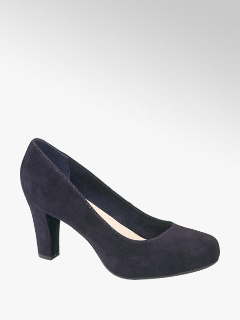 5th Avenue Donkerblauwe pump suede