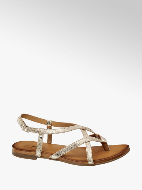5th Avenue Gouden sandaal leer