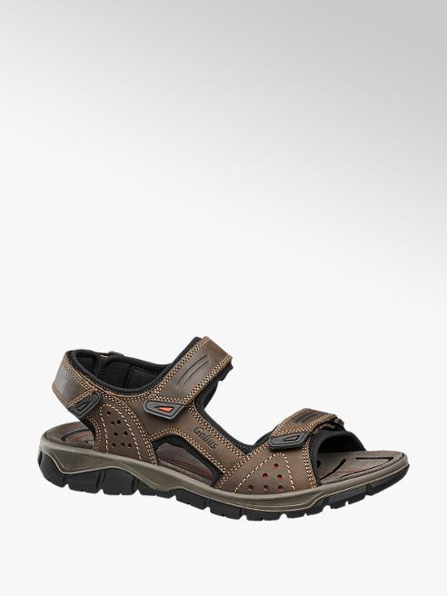Gallus Bruine sandaal leren voetbed