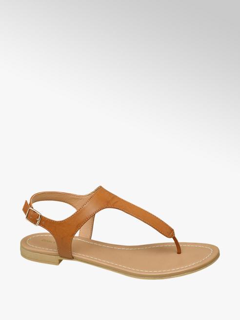 Graceland Cognac sandaal gesp