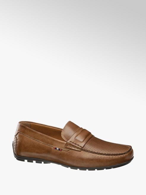 AM shoe Bruine leren moccasin