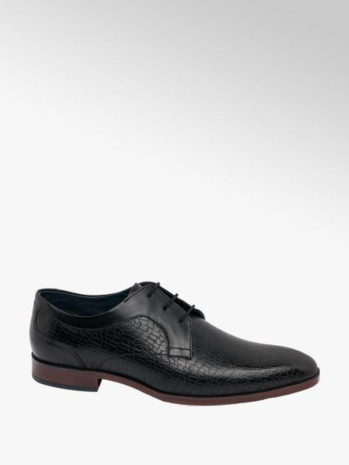 AM SHOE Mens Formal Black Shoes