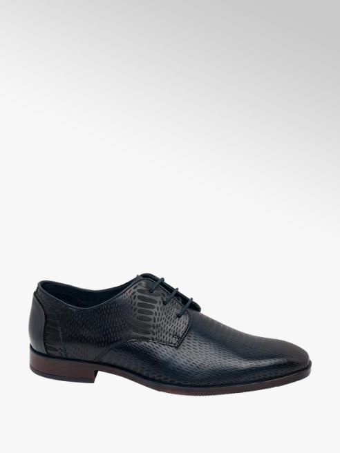 AM SHOE Mens Blue Formal Lace-up Shoes