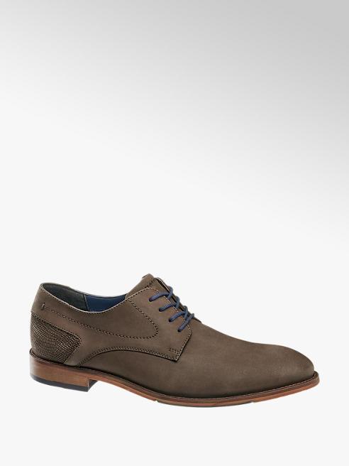 AM shoe Bruine leren schoen vetersluiting