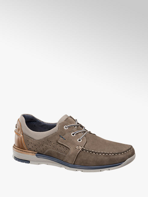 AM shoe Taupe leren veterschoen