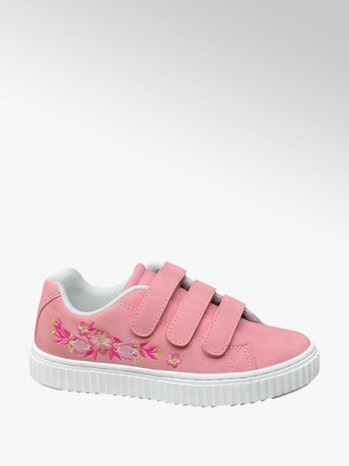 Graceland Roze sneaker klittenbandsluiting