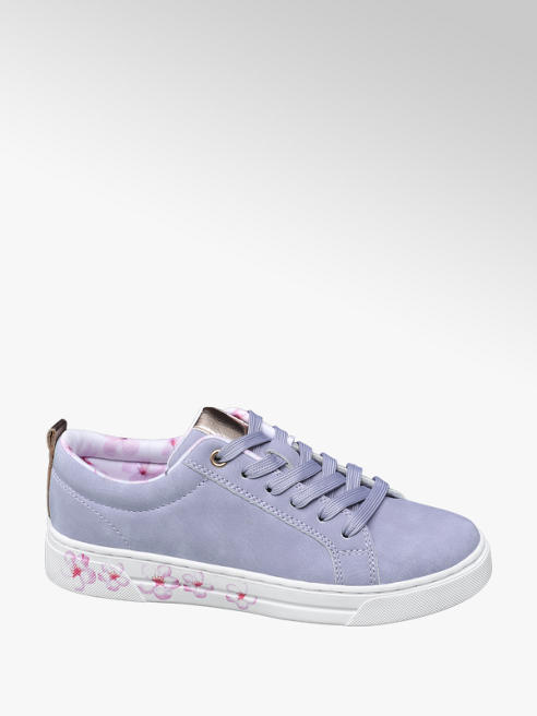 Graceland Blauwe sneaker vetersluiting