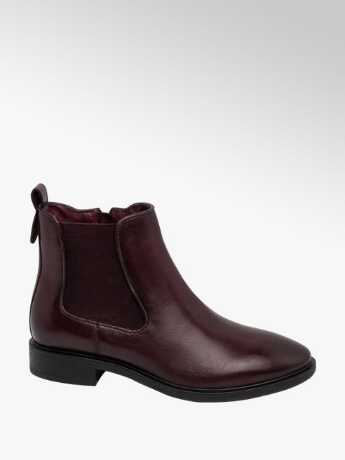 5th Avenue Burgundy Leather Chelsea Boots