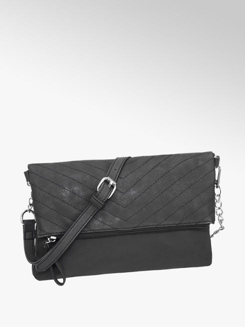 Graceland Black Fold over Clutch Bag