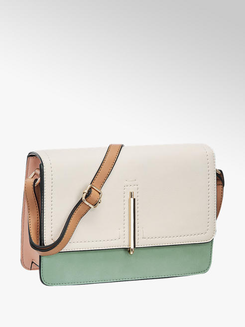 Graceland Beige/mint schoudertas