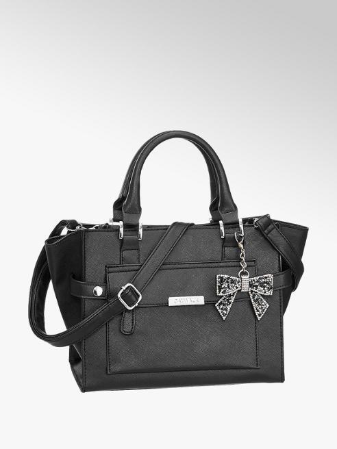 Graceland Zwarte handtas strik