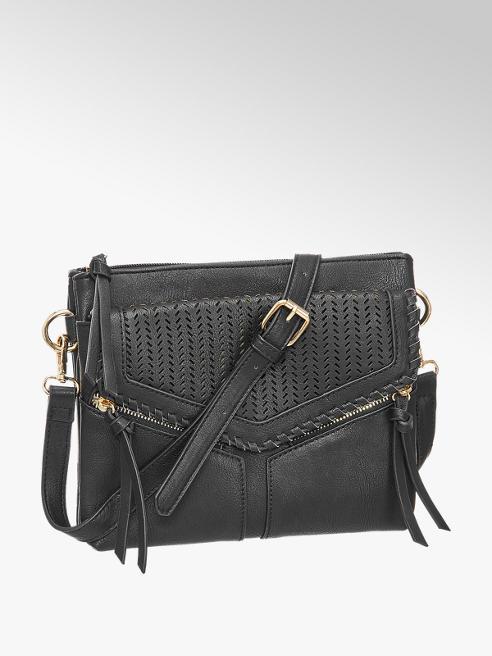 Graceland Zwarte schoudertas perforatie