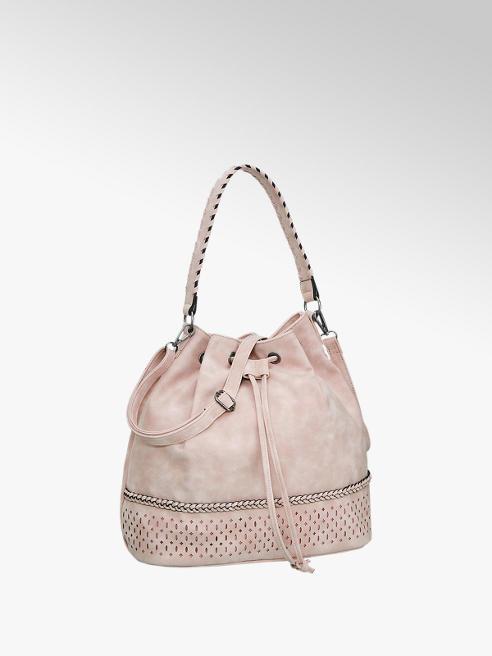 Graceland Roze schoudertas perforatie