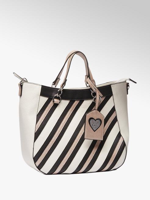 Graceland Zwart-witte handtas strepen