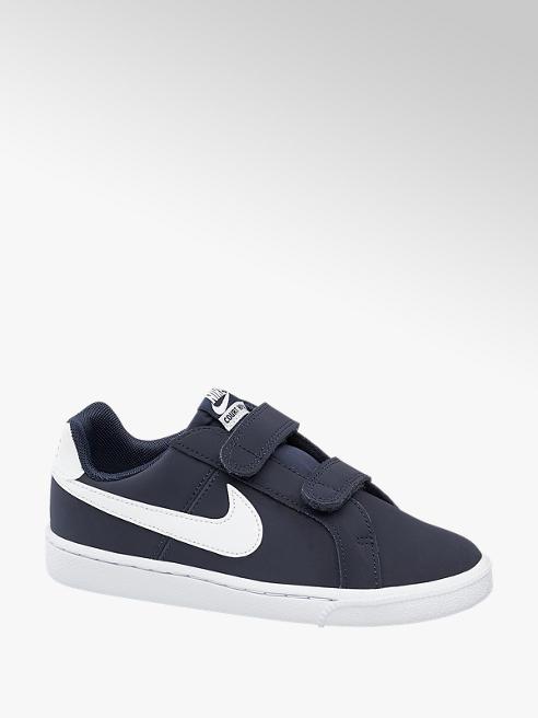 Nike Donkerblauwe leren Court Royale