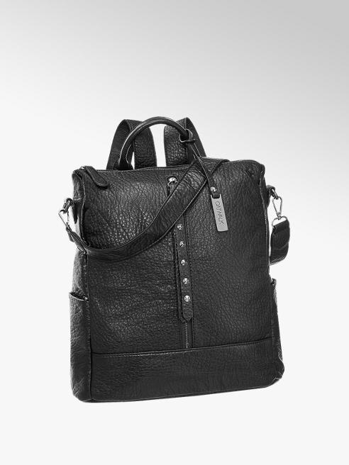 Catwalk Fekete szegecses női hátizsák