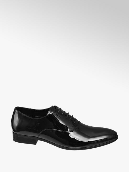 Memphis One Mens Formal Patent Black Shoes
