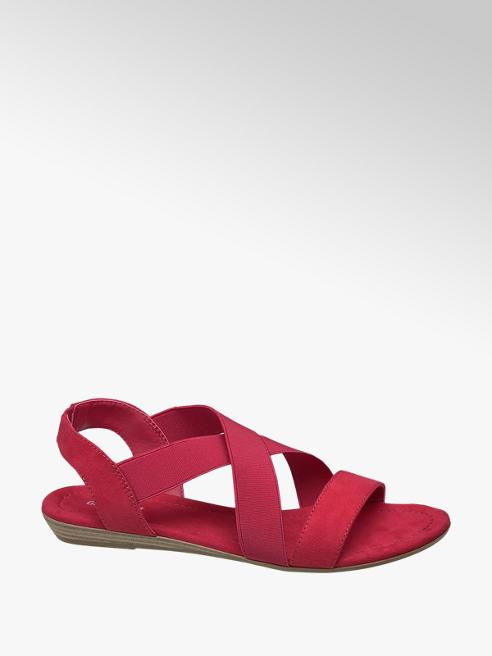 Graceland Rode sandaal elastieken