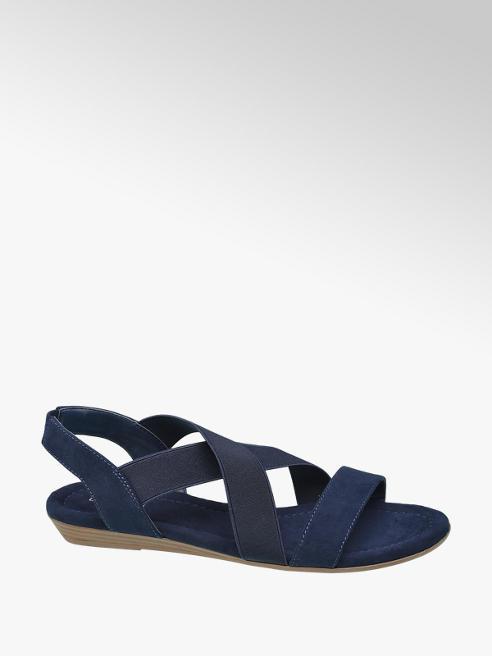 Graceland Donkerblauwe sandaal elastieken