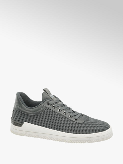 Run Lifewear Grijze sneaker vetersluiting