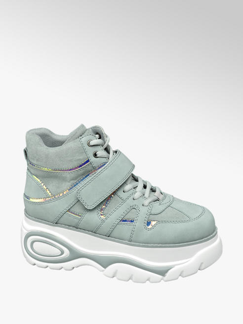 Mint Chunky Lace-up Platform Trainers