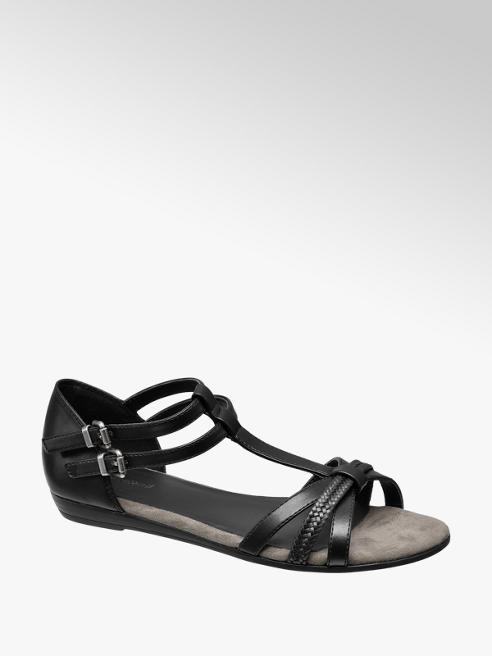 Graceland Zwarte sandaal gespsluiting