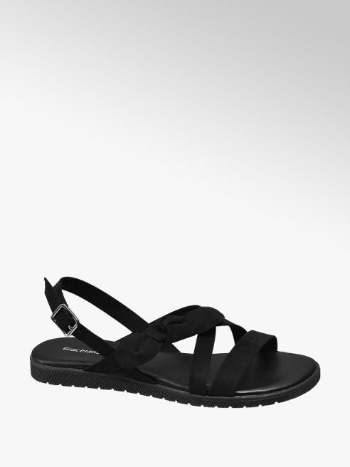 Graceland Zwarte sandaal strik