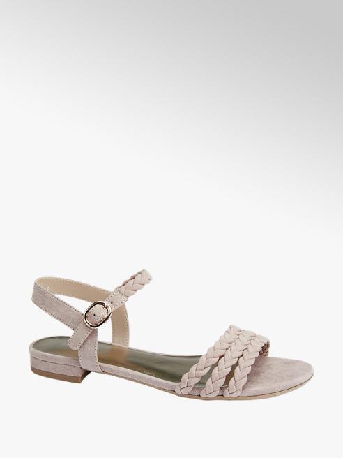 Graceland Oudroze sandaal gevlochten bandjes