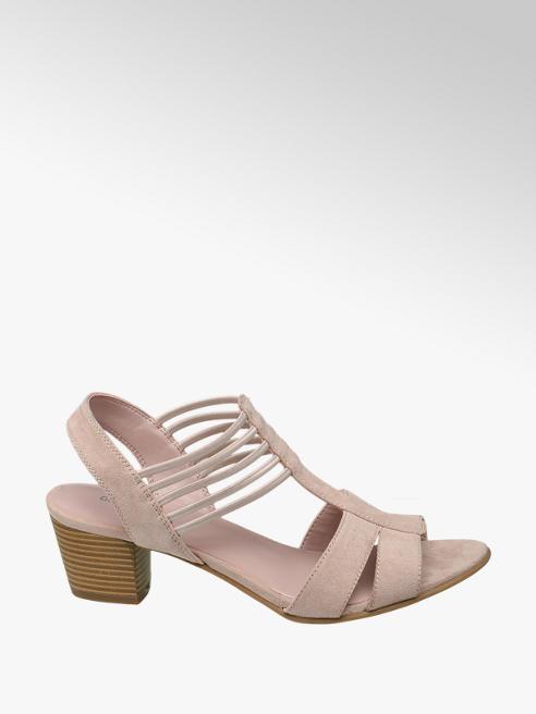 Graceland Roze sandaal elastiek