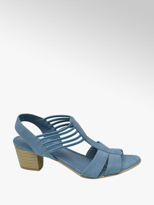 Graceland Lichtblauwe sandaal elastiek
