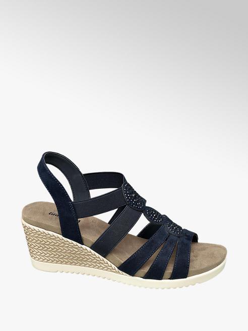 Graceland Blauwe sandalette strass