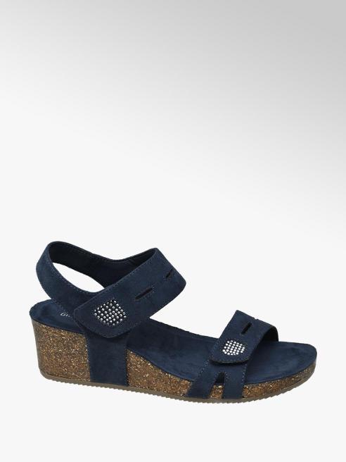 Graceland Blauwe sandalette kurk