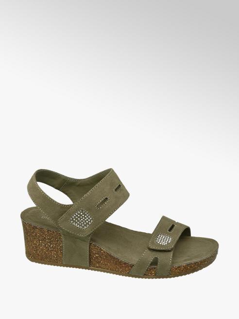 Graceland Groene sandalette kurk