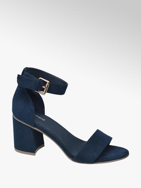 Graceland Donkerblauwe sandalette gespsluiting