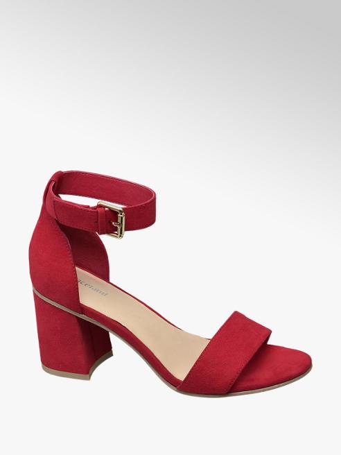 Graceland Rode sandalette gespsluiting