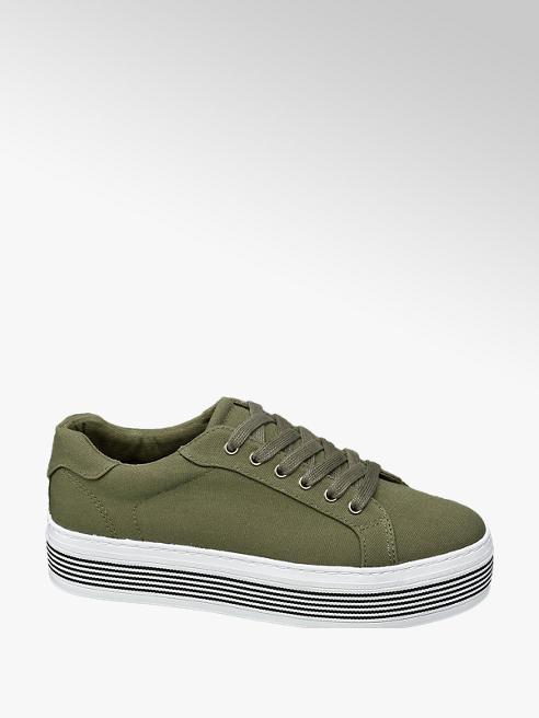 Graceland Khaki sneaker plateauzool