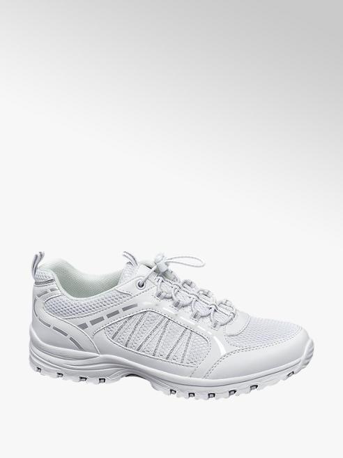Landrover Witte wandelschoen elastiek